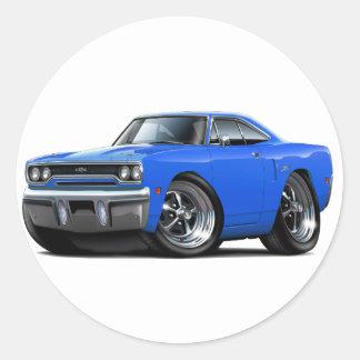 1970 Plymouth GTX Blue Car Stickers