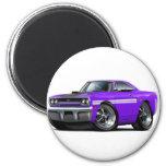1970 Plymouth GTX Purple-White Car Magnets