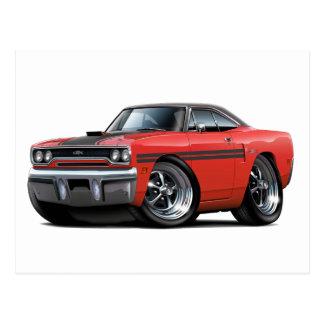 1970 Plymouth GTX Red-Black Top Car Postcard