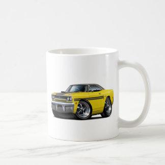 1970 Plymouth GTX Yellow-Black Top Car Coffee Mug