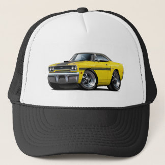 1970 Plymouth GTX Yellow-Black Top Car Trucker Hat