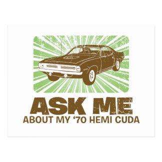 1970 Plymouth Hemi Cuda Postcards