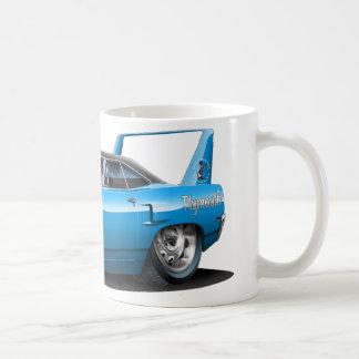 1970 Plymouth Superbird Blue Car Classic White Coffee Mug