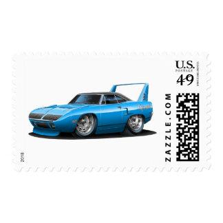 1970 Plymouth Superbird Blue Car Postage Stamp