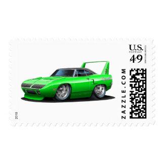 1970 Plymouth Superbird Green Car Postage