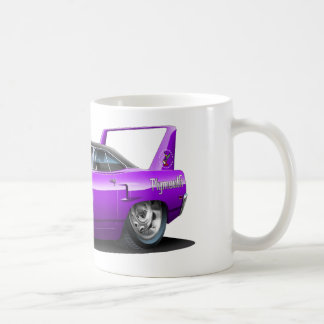 1970 Plymouth Superbird Purple Car Classic White Coffee Mug