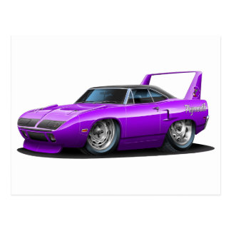 1970 Plymouth Superbird Purple Car Postcards