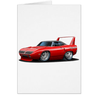 1970 Plymouth Superbird Red Car Card