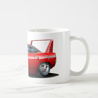 1970 Plymouth Superbird Red Car Classic White Coffee Mug