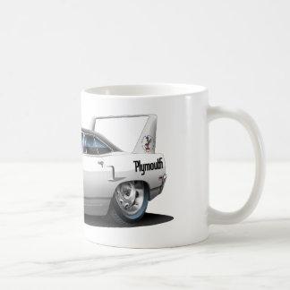 1970 Plymouth Superbird White Car Classic White Coffee Mug