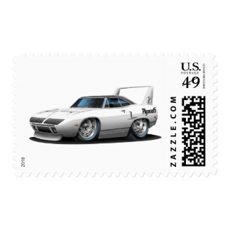 1970 Plymouth Superbird White Car Stamps