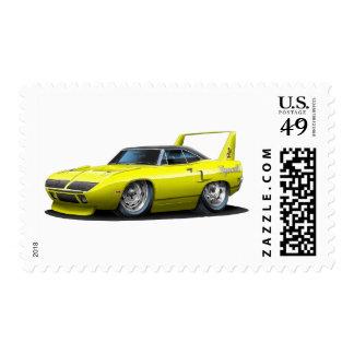 1970 Plymouth Superbird Yellow Car Postage