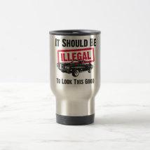 """1970 Pontiac GTO 455 """"JUDGE"""" 15 Oz Stainless Steel Travel Mug"""