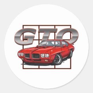 1970 Pontiac GTO Classic Round Sticker