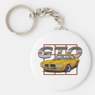 1970 Pontiac Lemans GTO Basic Round Button Keychain