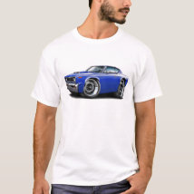 1970 Rebel Machine Blue-Hood Scoop T-Shirt