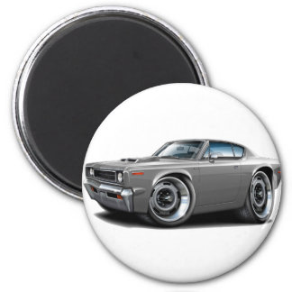 1970 Rebel Machine Grey-Hood Scoop 2 Inch Round Magnet