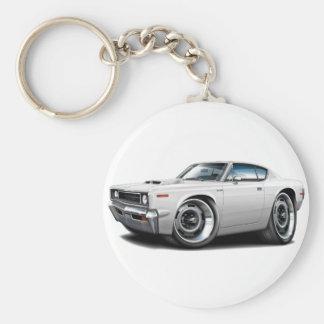 1970 Rebel Machine White-Hood Scoop Basic Round Button Keychain
