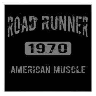 1970 Road Runner American Muscle Poster