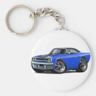 1970 Roadrunner Blue-Black Stripe Keychain