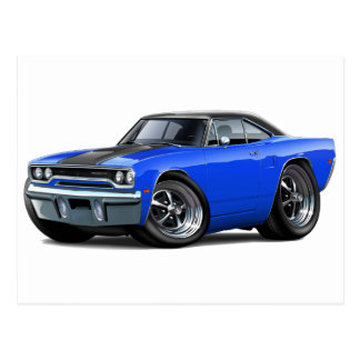 1970 Roadrunner Blue-Black Top Postcard