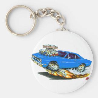 1970 Roadrunner Blue Car Keychain