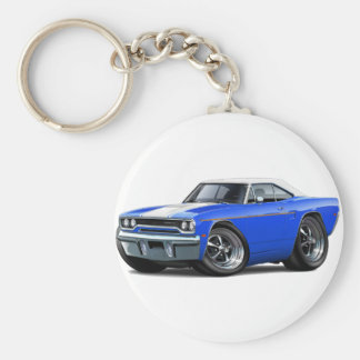 1970 Roadrunner Blue-White Top Keychain
