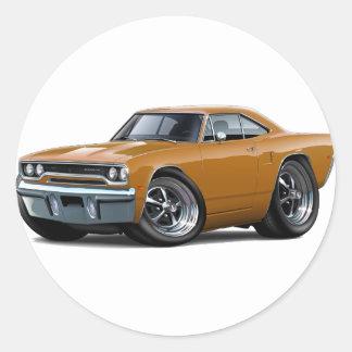 1970 Roadrunner Brown Car Sticker