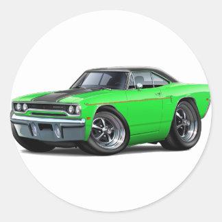 1970 Roadrunner Green-Black Stripe Stickers