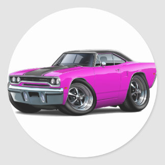 1970 Roadrunner Pink-Black Top Stickers