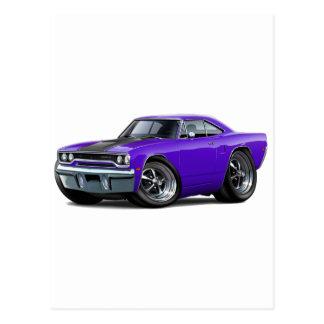 1970 Roadrunner Purple-Black Postcard
