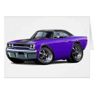 1970 Roadrunner Purple-Black Top Greeting Card