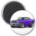 1970 Roadrunner Purple-Black Top Magnets