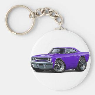 1970 Roadrunner Purple Car Keychain
