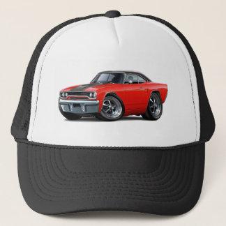 1970 Roadrunner Red-Black Top Stripe Trucker Hat