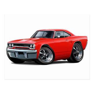1970 Roadrunner Red Car Postcard