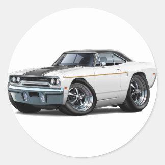 1970 Roadrunner White-Black Stripe Stickers