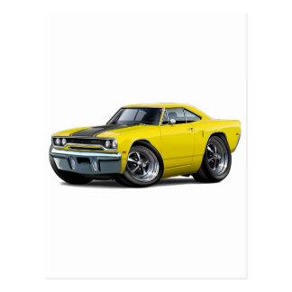 1970 Roadrunner Yellow-Black Postcard
