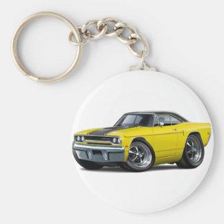 1970 Roadrunner Yellow-Black Stripe Keychain