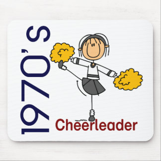 1970's Cheerleader Stick Figure Mouse Pad