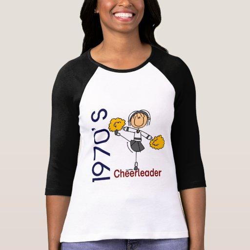 1970's Cheerleader Stick Figure Tee Shirt