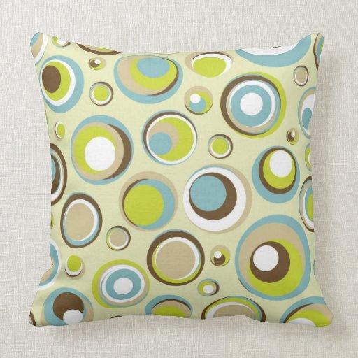 Throw Pillows Leather : 1970 s Retro Circle Pattern Couch Throw Pillow Zazzle