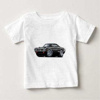 1970 Super Bee Black-White C-Stripe Scoop Hood T Shirt