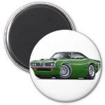 1970 Super Bee Green-Black Top C-Stripe Scoop Hood Magnet