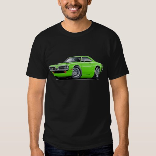 1970 Super Bee Lime-Black Scoop Hood T-Shirt