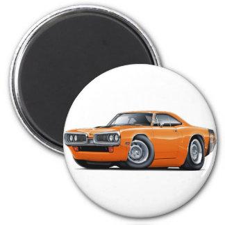 1970 Super Bee Orange-Black Car 2 Inch Round Magnet