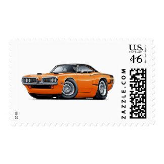 1970 Super Bee Orange-Black Top C-Stripe Scoop Hd Stamps