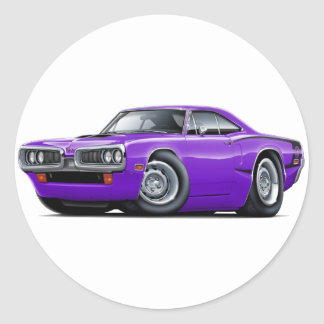 1970 Super Bee Purple-Black C-Stripe Classic Round Sticker