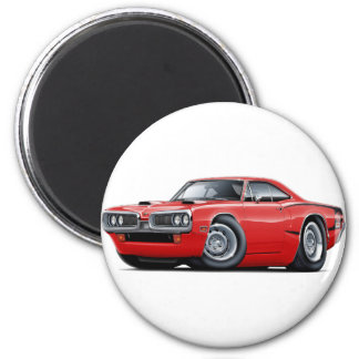 1970 Super Bee Red-Black C-Stripe Scoop Hood Magnet