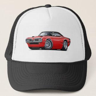 1970 Super Bee Red-Black Top C-Stripe Scoop Hood Trucker Hat